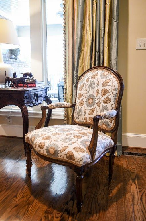 Floral Louis XVI French Chair